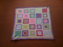 Finally ......'SIBOL' no. 7 is born........Thank you Damaris for sending me 25 Squares to play with........ Your Blanket would you like to name it? Please?