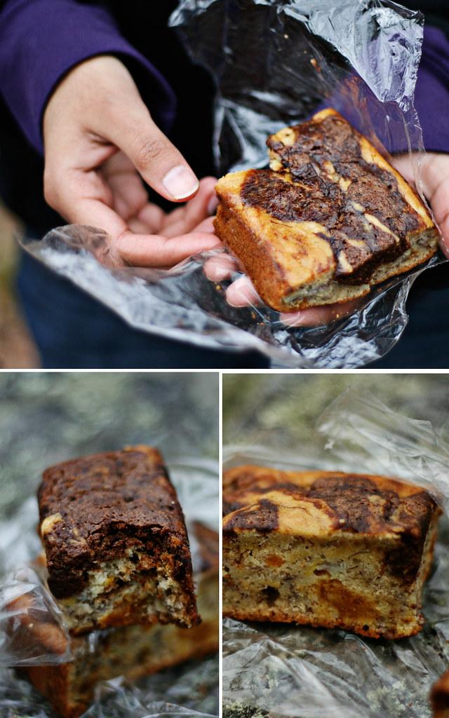 banana brownie bread