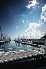 one two (s1mb074) Tags: sea italy nikon italia mare blu d70s filter ravenna 192 cokin marinadiravenna simbo74