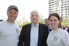 Senator John McCain posing with us before the Blue Angels performance in Charleston, SC - 4/17/10 (mikelynaugh) Tags: blue sc south charleston angels carolina blueangels mccain cooperriver johnmccain lynaugh mikelynaugh kristielynaugh kristieengler