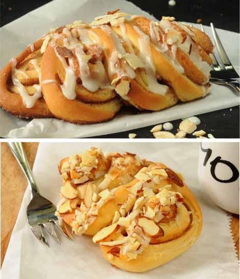 Almond Fans--A Sweet Yeast Roll