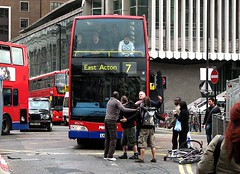 Argument on a London street