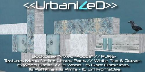 "<<UrbanizeD>> Wall Deco Bookcase ""Mixed Moods"" // Pure+"