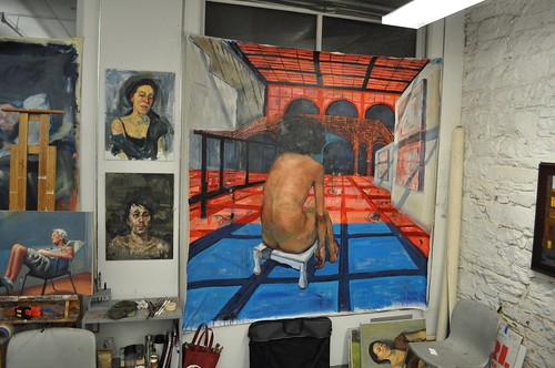 unfinished painting / studio shot