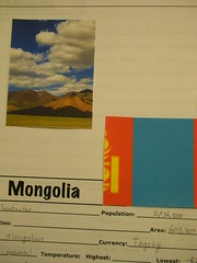 Mongolia Notebook Page