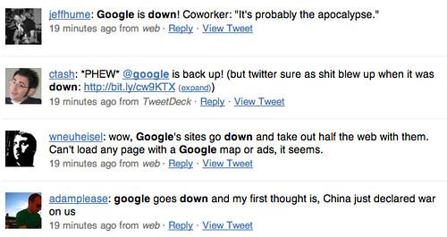 Google Down: Really