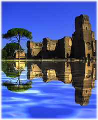 Rome, Baths of Caracalla (sipazigaltumu) Tags: rome reflection mirror ancient bath roman ruin baths rom thermen thermae rmisch caracalla supershot thegalaxy flickrdiamond favescontestwinner newgoldenseal mygearandmepremium mygearandmebronze mygearandmesilver mygearandmegold mygearandmeplatinum mygearandmediamond tplringexcellence eltringexcellence