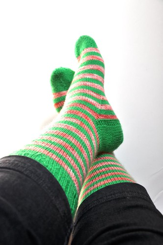 3rd pair of burning stripes socks finished-3