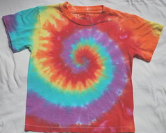 4T tie dye short sleeved shirt Rainbow
