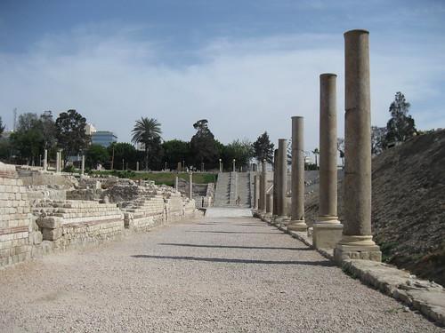 Roman ruins in Alexandria