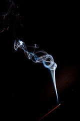 Smoke (Harle (Summer is here!)) Tags: smoke flash cc burning burn smokey stick burner gels incense sharealike insence smokerings incensestick creatingcommons