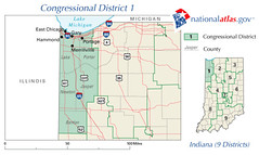 Indiana District 1 111th Congress as elected 4 November 2008