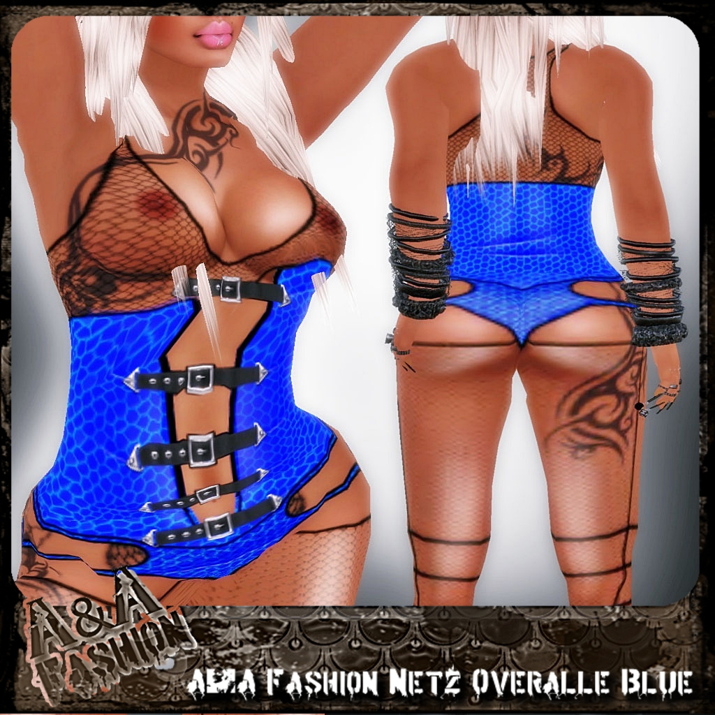 A&A Fashion Netz Overalle Blue