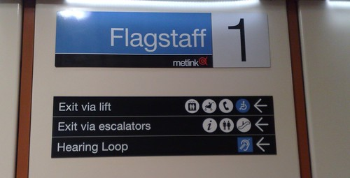 Flagstaff station signage