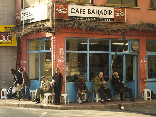 Men Drinking Tea in Istanbul