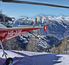 From Whence it Came (RD Crisp Photography) Tags: mountain snow ski mountains alps switzerland skiing helicopter skiresort heli verbier swissalps airambulance valdebagnes fourvalleys