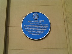 Photo of Leeds Club blue plaque