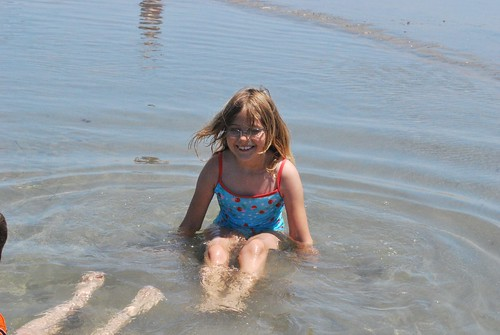 Megan, last Saturday in a tide pool at dog beach
