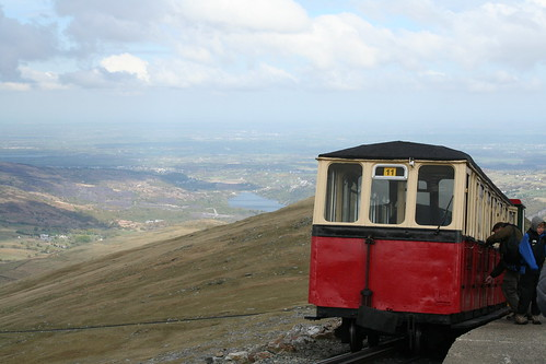 Snowdon mountain Railway view from Rocky Valley