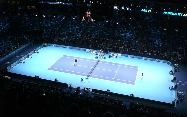 Del Potro vs Federer - ATP World Tour Finals at the 02 Arena November 2009