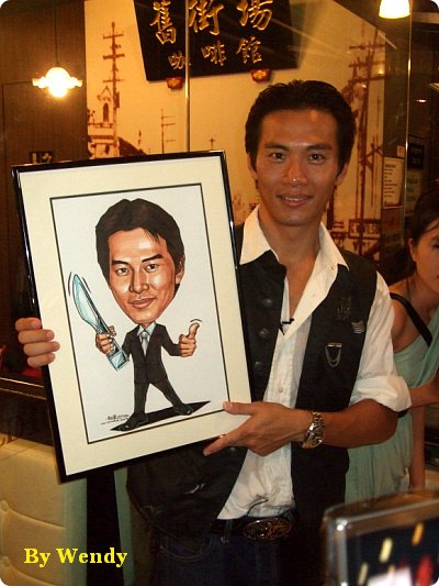 Qi Yu Wu with his caricature