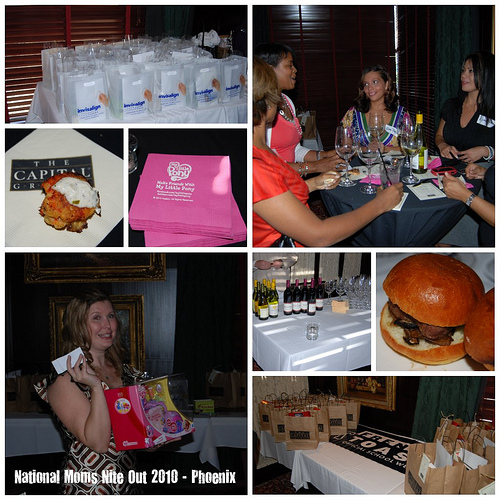 National Moms Nite Out collage