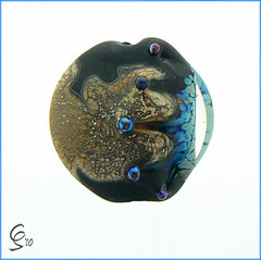 Nixe - Lampwork Glass Focal Bead (Photography by Clare Scott) Tags: sea glass set scott clare inspired bead lampwork sra focal srajd fhfteam