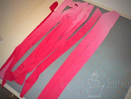 adult t shirt ruffles extra shirt pieces strips cut