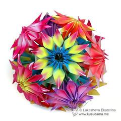 Tutorial! Gloriosa modular origami flowers (_Ekaterina) Tags: flowers red paper origami tutorial modularorigami kusudama lukasheva ekaterinalukasheva