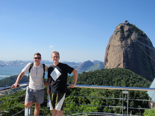 Swiss and me before going up to Sugar Loaf in Rio