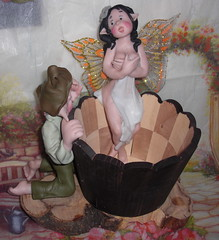 nuova fatina al bagno (mindi64) Tags: life bath handmade io fimo fantasy clay faery creature bagno atmosfera gnomo fata creations magia cernit fatina folletto polyclay artigianato artigianale guardone