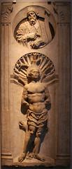 Saint Sébatien et un prophète (Mr-Pan) Tags: sculpture sebastian image pierre marble marbre heilig saintsébastien iconographie
