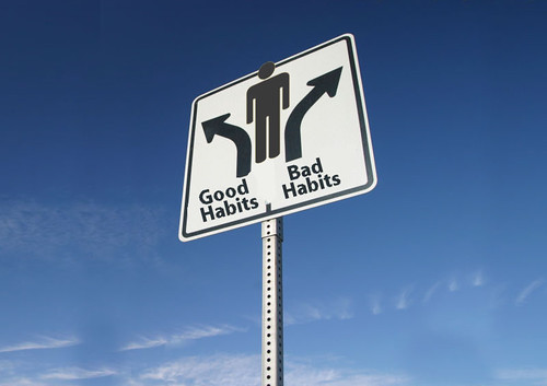 blokes with good & bad habits