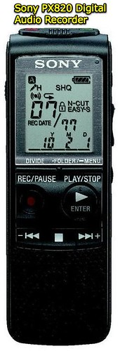 Sony ICD-PX820 Digital Audio Recorder