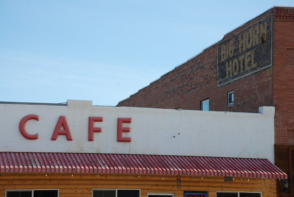 cafe and big horn hotel