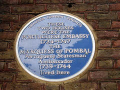 Photo of Portuguese Embassy and Sebastião José de Carvalho e Melo blue plaque