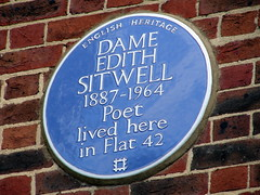 Photo of Edith Sitwell blue plaque