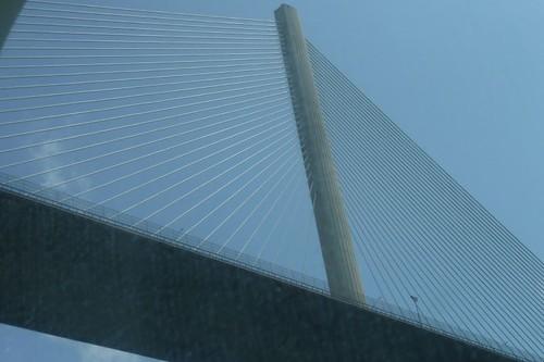Passing under Centennial Bridge
