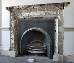 Fireplace / Exposed Brick Arch - Brian Eno Speaker Flowers Sound Installation at Marlborough House (Dominic's pics) Tags: old uk flowers house holland building brick adam art robert festival one sussex words fireplace iron brighton gallery arch tour brian may rick scottish duke plaster grade exhibition east steine architect cast virtual eno installation sound speaker poet hearth poems marlborough exposed fabrica listed 2010 remodelled mantlepiece lath i