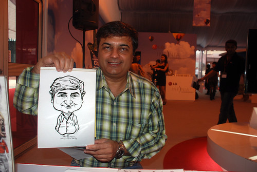 caricature live sketching for LG Infinia Roadshow - day 1 - 19