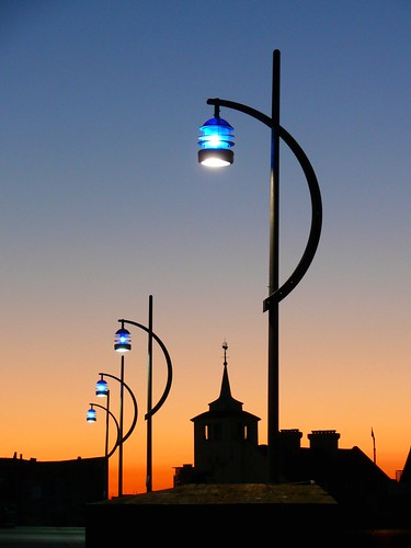 Portsmouth/Southsea Streetlights at sunset