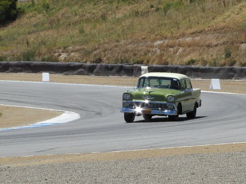 Classic cars take to the track