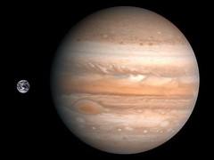 Júpiter y la Tierra