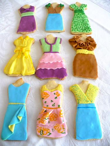 Summer dress sugar cookies