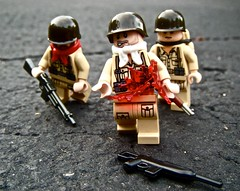 Shot dead. (The Chef!) Tags: dead blood shot lego wwii hazel carnage squad brickarms