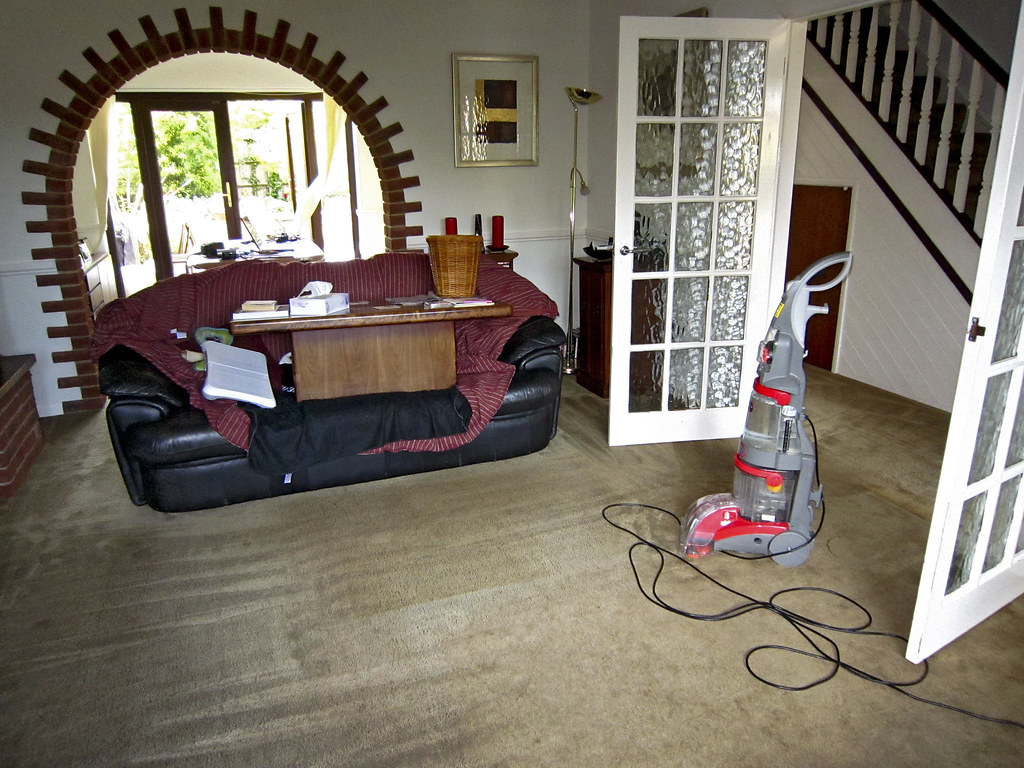 Cleaning the carpets