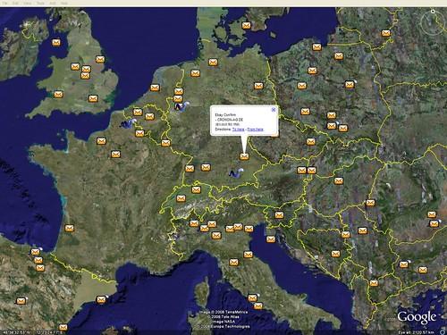 Внешний вид Google Earth