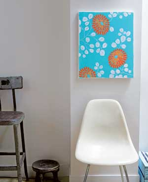 Wall painting from DIY Art at Home by Lola Gavarry