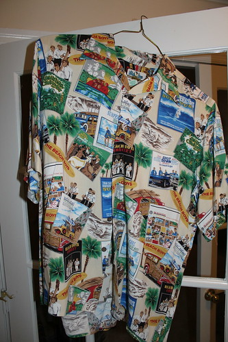 beach boys album covers. My Reyn Spooner Beach Boys album covers shirt. This is the shirt I happily wore when I got the chance to get a pic of me and Beach Boy Mike Love.