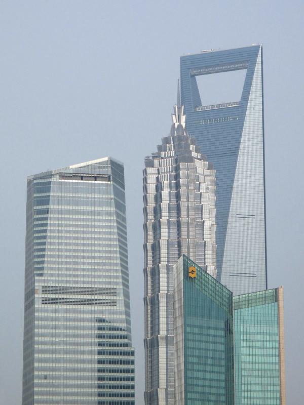 Shanghai World Financial Center and Jin Mao Tower from the Bund, Shanghai